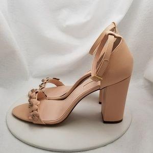 AVEC LES FILLES Pink Ankle Strap Heels Sz 9.5 M